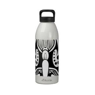 Butterfly tattoo design drinking bottles