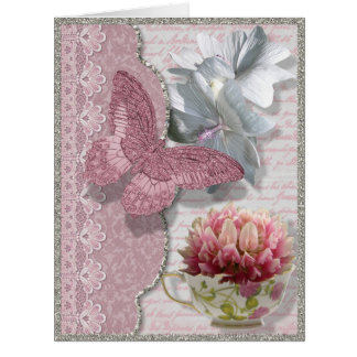 Butterfly Tea Designer All Occasion Card