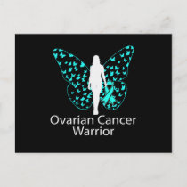 Butterfly Teal Ribbon Ovarian Cancer Awareness Invitation Postcard