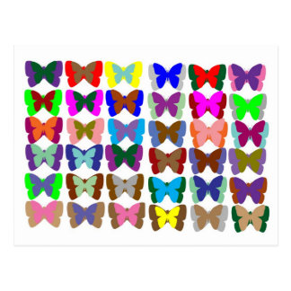 Butterfly TEAM : Learn COLORS and COUNTING Postcard