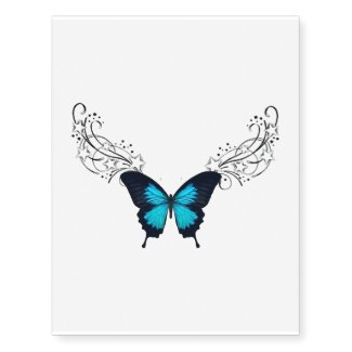 butterfly temporary tattoo lower back