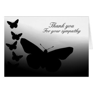 Butterfly Thank You Greeting Card