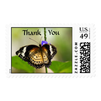 Butterfly Thank You Postage Stamp