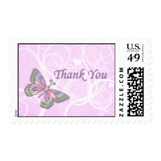 Butterfly Thank You Postage Stamps