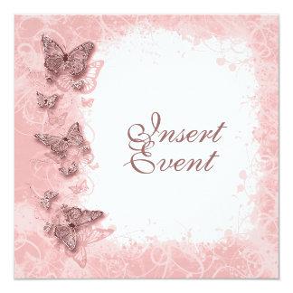 Butterfly theme wedding engagement birthday custom invites