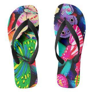 Butterfly thongs flip flops