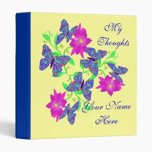 Butterfly Thoughts Binder
