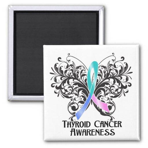 Butterfly Thyroid Cancer Awareness Refrigerator Magnet