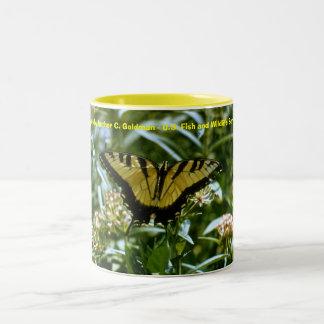 Butterfly - Tiger Swallowtail Two-Tone Coffee Mug