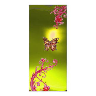 BUTTERFLY  TOPAZ , yellow bright red pink violet Card