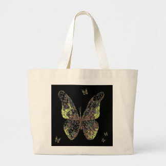 Butterfly Tote Bag for Men or Women on Green/Black