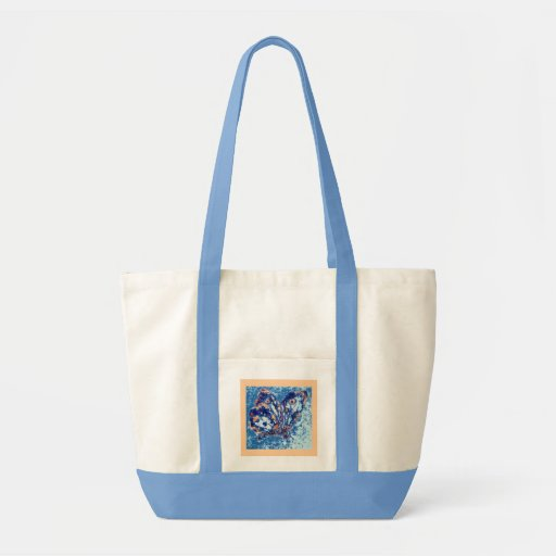 Butterfly Tote - light blue Impulse Tote Bag