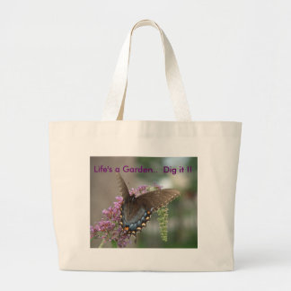 Butterfly tote~reuseable grocery bag