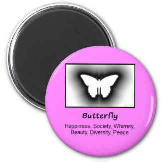 Butterfly Totem Animal Spirit Meaning 2 Inch Round Magnet