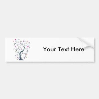 Butterfly Tree 1 ~ Butterflies Customize Template Bumper Stickers