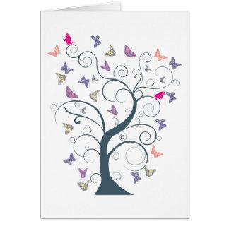 Butterfly Tree 1 ~ Butterflies Customize Template Card