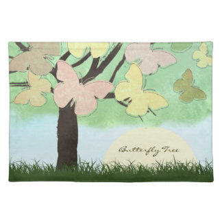 Butterfly Tree American MoJo Placemat Cloth Placemat