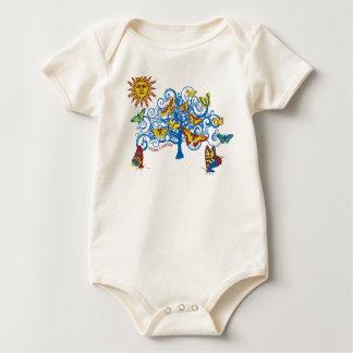 Butterfly Tree Design Baby Bodysuit
