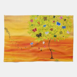 Butterfly Tree Hand Towel