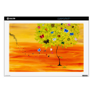 Butterfly Tree Laptop Decal