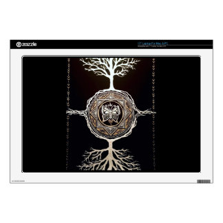 Butterfly Tree Mandala Laptop Decals