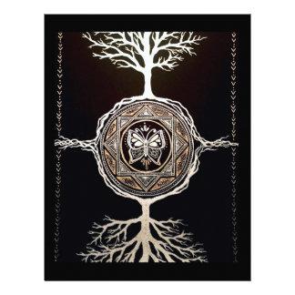 Butterfly Tree Mandala Letterhead