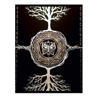 Butterfly Tree Mandala Postcard