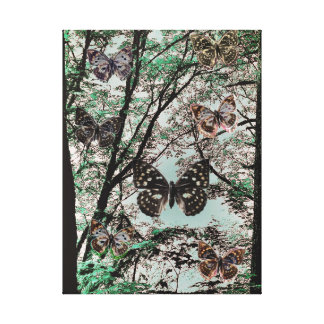 Butterfly Trees Canvas Print
