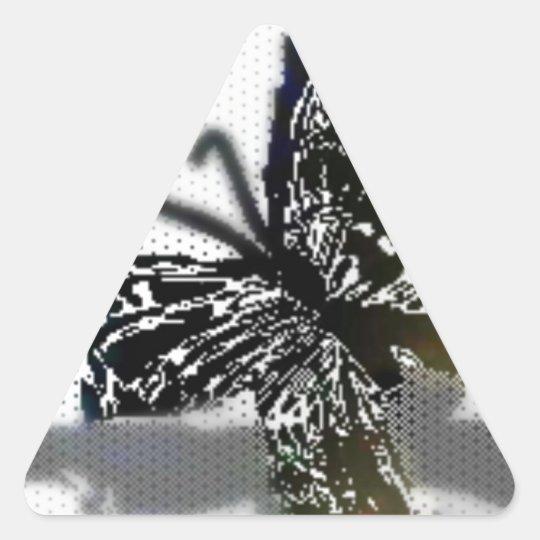 Butterfly Triangle Sticker