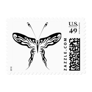 Butterfly tribal stamp
