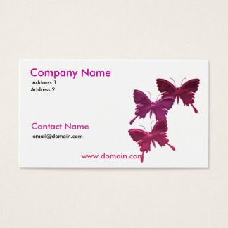 Butterfly Trio Business Card