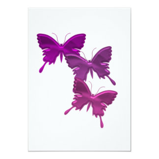 "Butterfly Trio Invitation 5"" X 7"" Invitation Card"