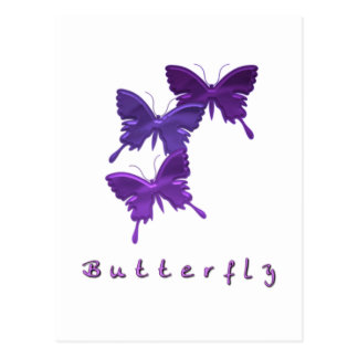 Butterfly Trio Postcard