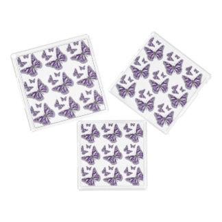 Butterfly trio purple summer acrylic tray