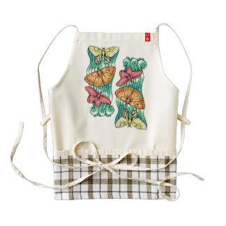 Butterfly Trio Zazzle HEART Apron