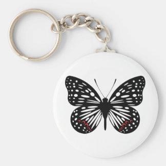 Butterfly Type A (Black) Keychain