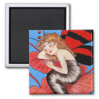 Butterfly Valentine Square Magnet
