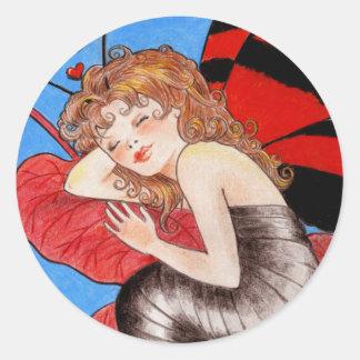 Butterfly Valentine Sticker
