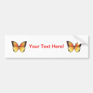 Butterfly: Vector Illustration: Bumper Sticker