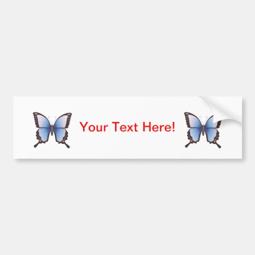 Butterfly: Vector Illustration: Bumper Stickers