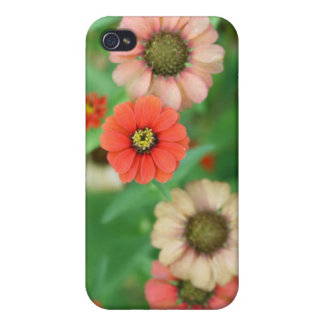 Butterfly View - Red Daisy Flowers Iphone 4 Case