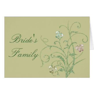 Butterfly Vine Wedding Seat Assignment Cards
