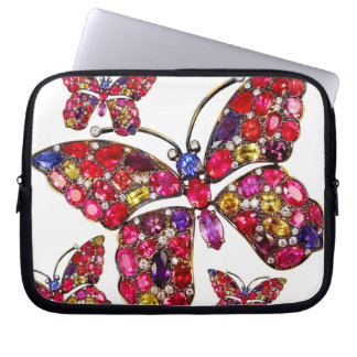Butterfly Vintage Costume Jewelry Laptop Sleeve