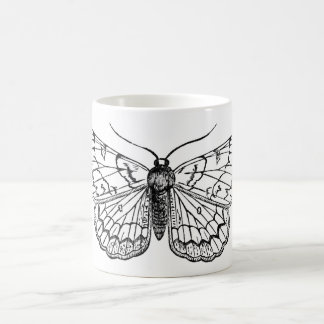 butterfly vintage illustration coffee mug