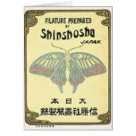 Butterfly Vintage Japanese Silk Label Cards