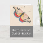 [ Thumbnail: Butterfly Vintage Look Birthday Greeting Card ]