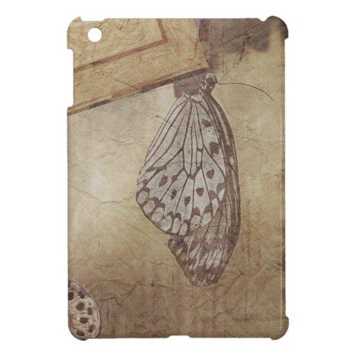 butterfly - vintage textured ipad mini case