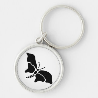 Butterfly Vintage Wood Engraving Keychain