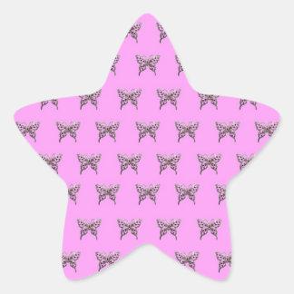 butterfly-violet star sticker