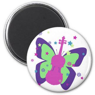 Butterfly Violin Refrigerator Magnets